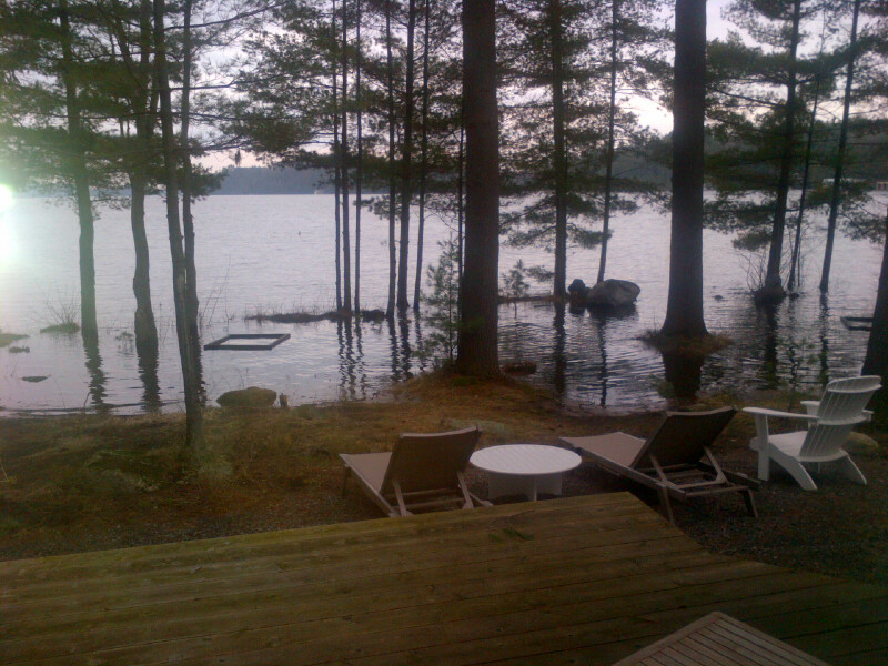 Flooding on Lake Muskoka